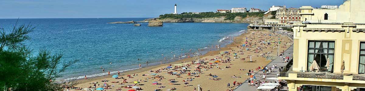 photo de la plage de Bidart au Pays Basque